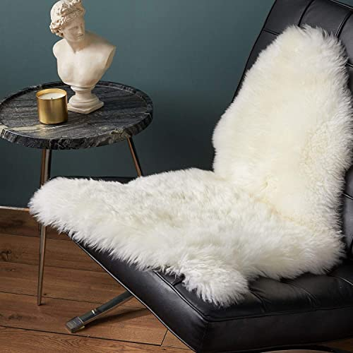 Bedsure Sheepskin Rug Area 2×3 Rug Ivory Flokati Rug Fluffy Bedroom Rugs for Living Room Single Pelt Rug Gifts for Men Women