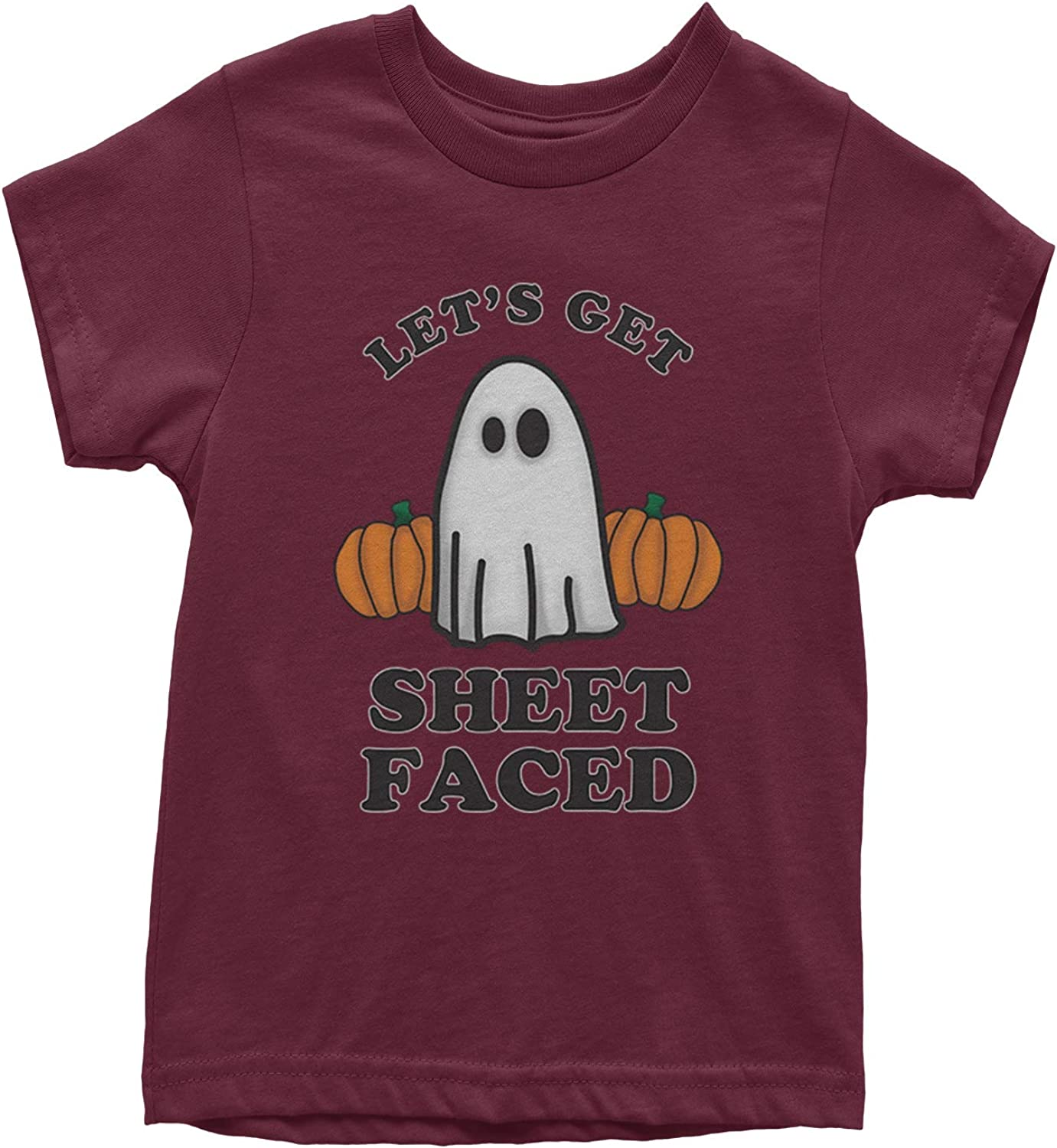 Expression Tees Lets Get Sheet Faced Ghost Youth T-Shirt
