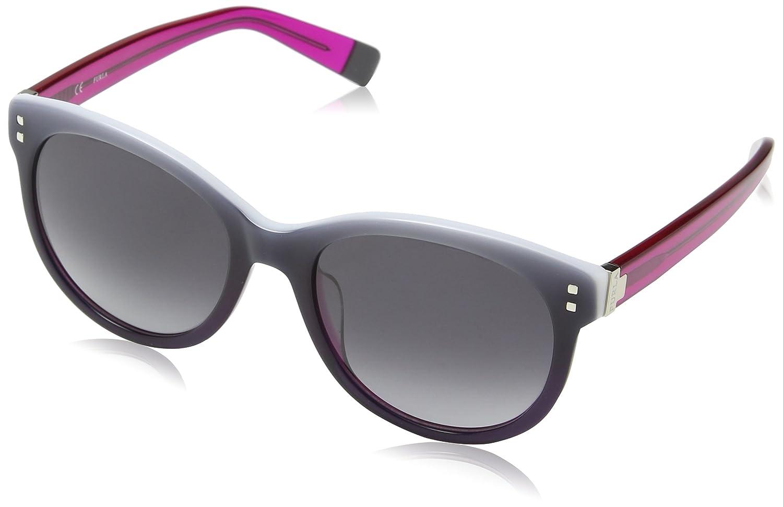 Furla Damen Sonnenbrille Su4900, Grau (Gradient Fuchsia/Black), Einheitsgröße