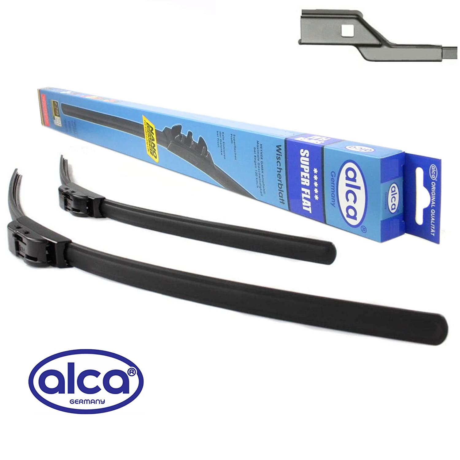 Polo 2009-2016 Alca Germany Set Front Windscreen Wiper Blades Replacement Front Window 2416 ASF2416ST
