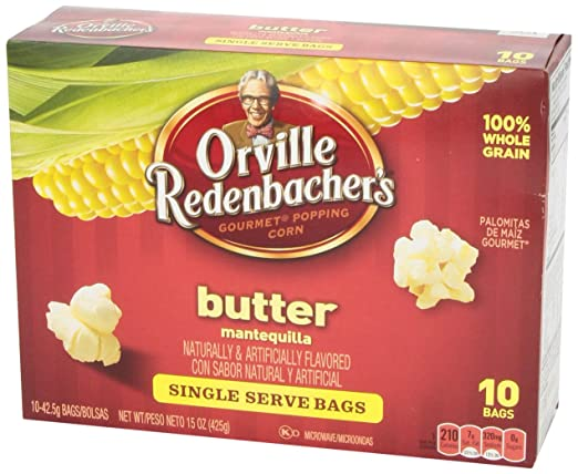 Amazon.com: Orville Redenbachers Old Fashioned Butter Mini Bag Popping Corn, 10 pk, 1.5 oz
