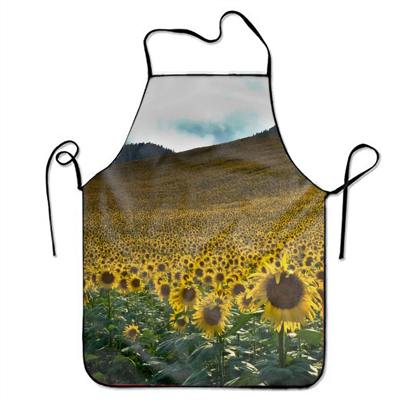 JONHBKD イエロー ダックスフント 調節可能 エプロン キッチン BBQ バーベキュー クッキング レディース メンズ 妻へのギフトに最適 レディース メンズ ボーイフレンド Onesize yh_009_2444351  Sunflower Sea8 B07GXHPK6L