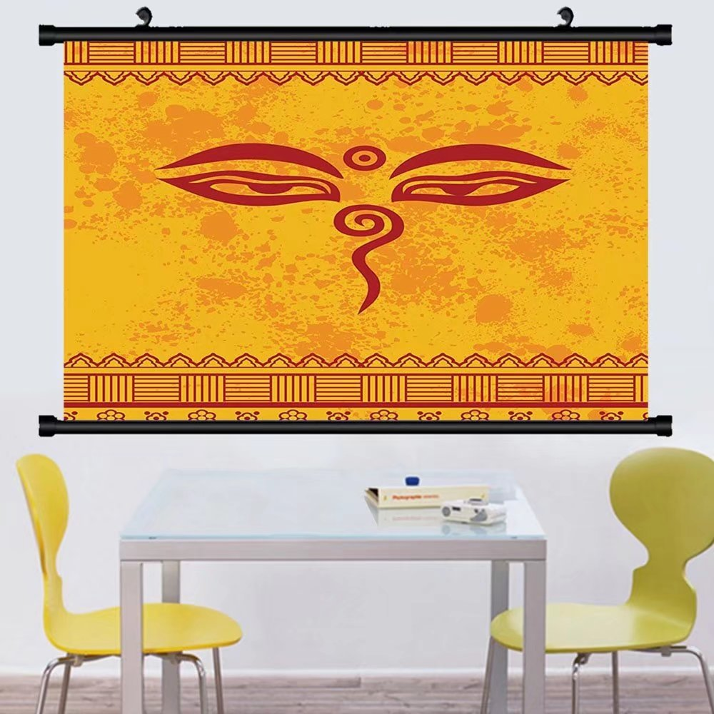 Amazon.com: Gzhihine Wall Scroll Ethnic Grunge Decor Collection ...