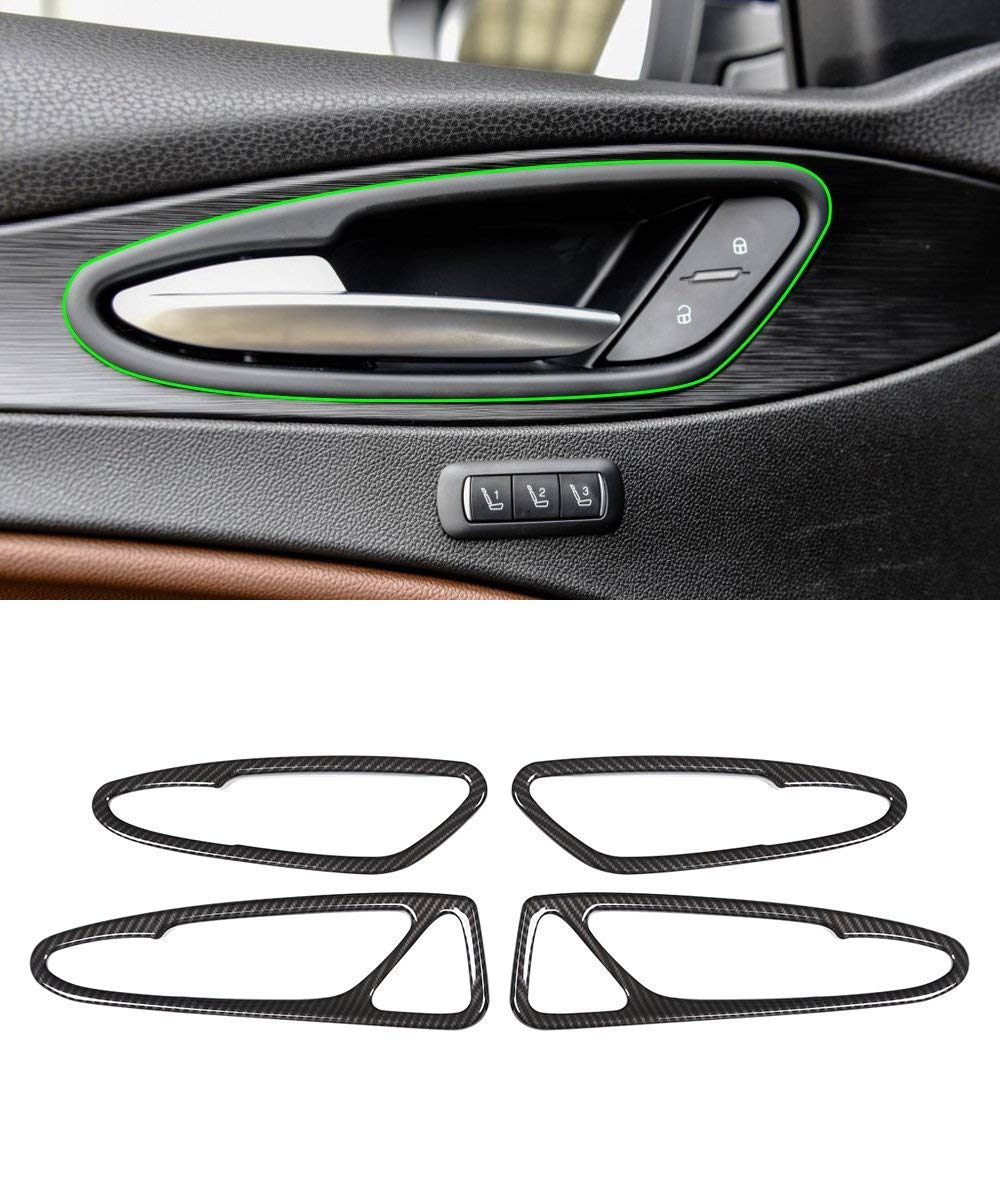 ABS Plastic Carbon Fiber Style Car Interior Door Handle Frame Trim for Alfa Romeo Stelvio 2017 2018