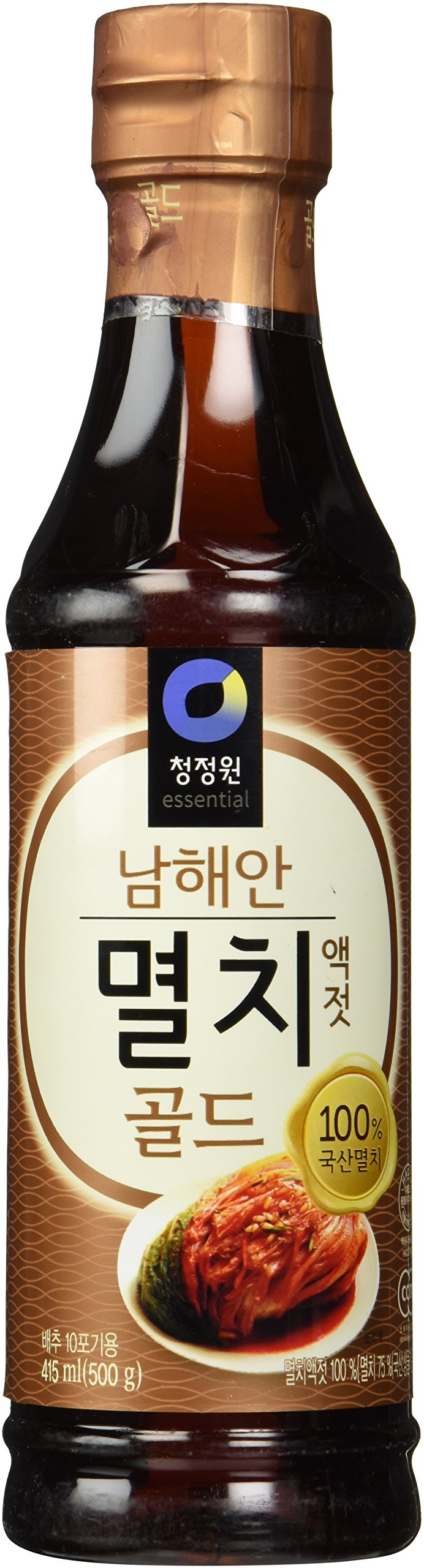Premium Anchovy Fish Sauce Gold (Small 1.1 lb) By Chung-jung-one