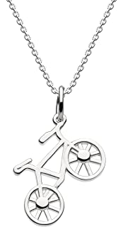 Dew Sterling Silver and Oxidised Explorer Compass Necklace of Length 45.7cm