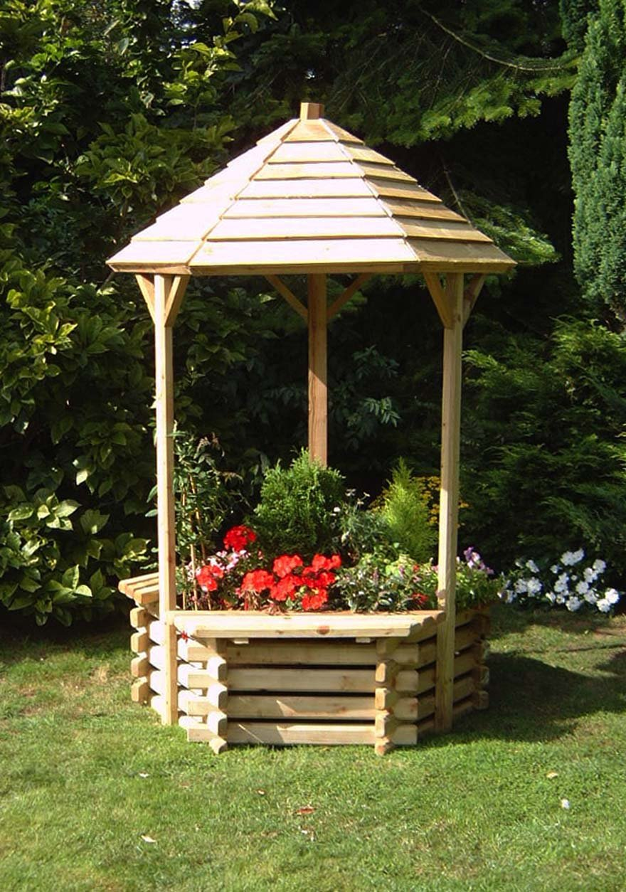 EXTRA LARGE WOODEN GARDEN WISHING WELL PLANTER, 4ft HIGH, GARDEN PLANTER  IDEAL FOR FLOWERING BULBS WW125