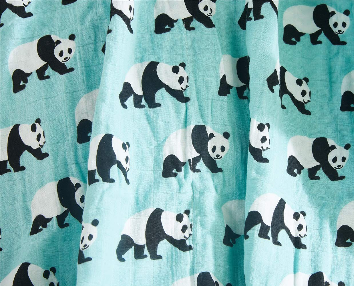 Stroller Cover Baby Bath Towels Cute Panda, 47x47 inch Cozyholy Fancy Design 100/% Cotton Baby Muslin Swaddle Blankets Swaddle Wrap Receiving Blanket