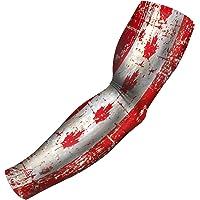 B Driven Deportes Compresión Arm Sleeve, Bandera de en Varios diseños, jóvenes Thru Adultos 3X L, 220g/m² Ideal para béisbol fútbol y Otros Athletics
