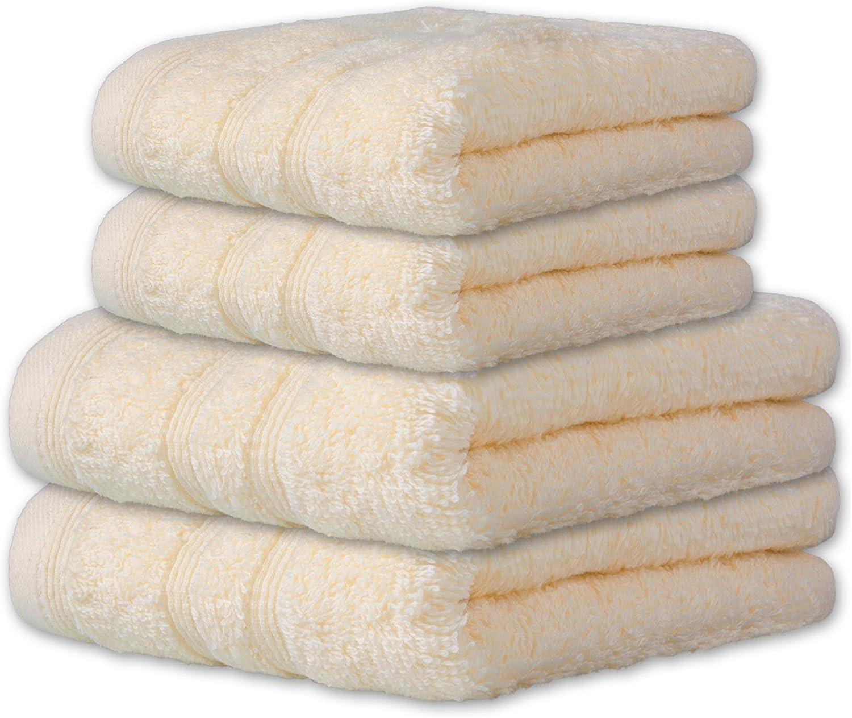 12 tlg Handtuchset 4x Saunatuch 4x Handtuch 4x Gästetuch Baumwolle Frottee