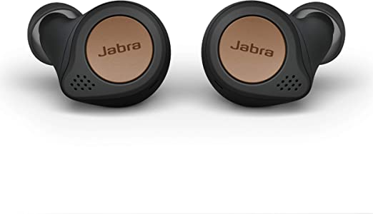Jabra Elite Active 75t True Wireless Bluetooth Earbuds, Copper Black – Wireless Earbuds for Running and Sport, Charging Case Included, 24 Hour Battery, Active Noise Cancelling Sport Earbuds