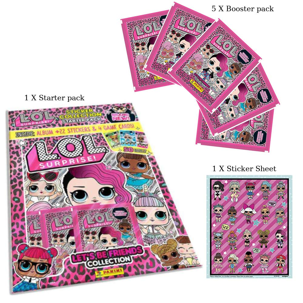 "Panini L.O.L Surprise /""Lets Be Friends Collection/"" Starter Pack"