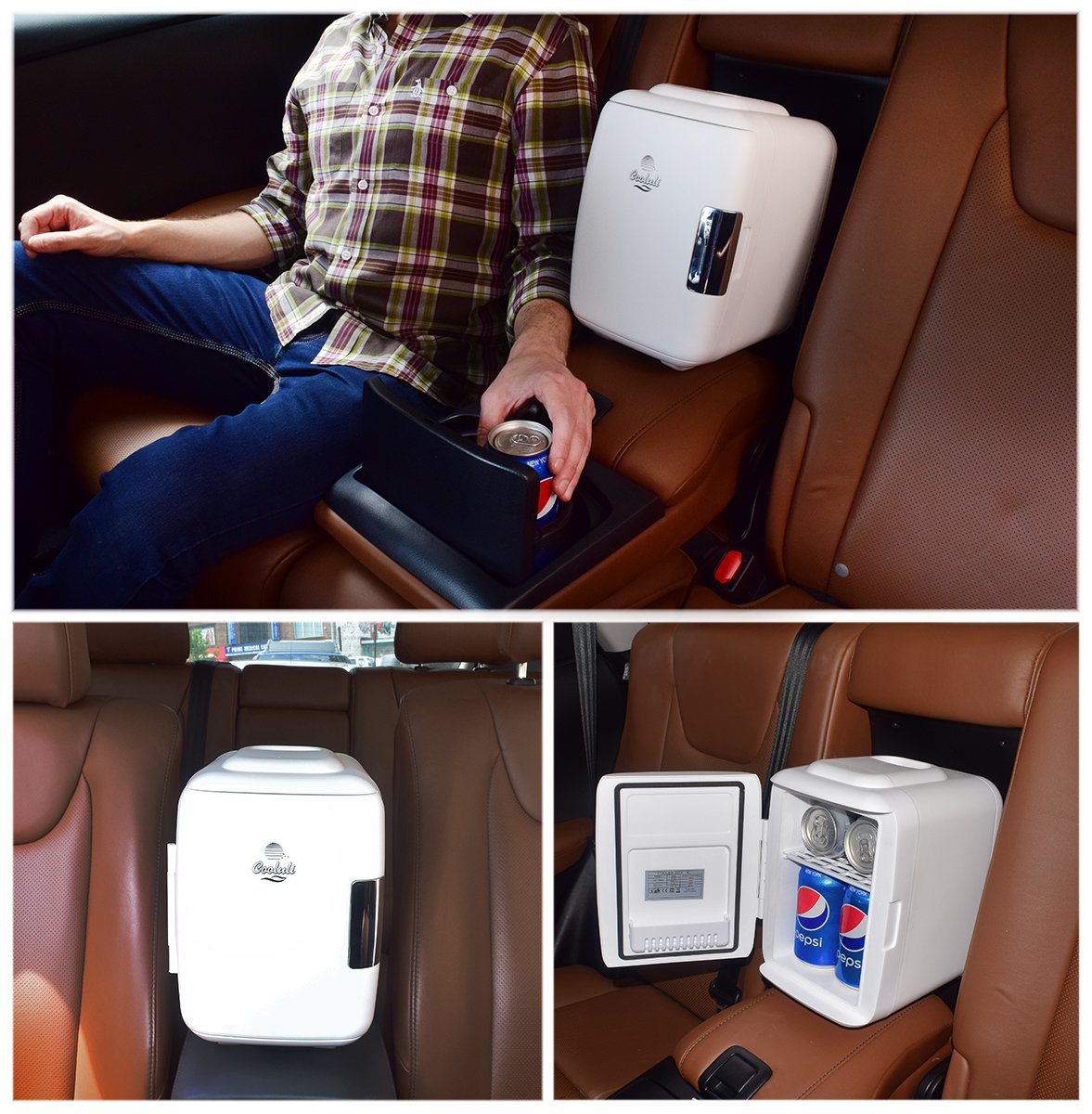 Cooluli Mini Fridge Electric Cooler And Warmer  Can Ac Dc Portable Thermoelectric System W Exclusive On The Go Usb Power Bank Option Blue