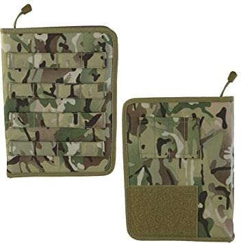 ce0d884caac9 Kombat Molle Fully Zipped Tactical Notebook Notepad Holder Folder A5 BTP MTP