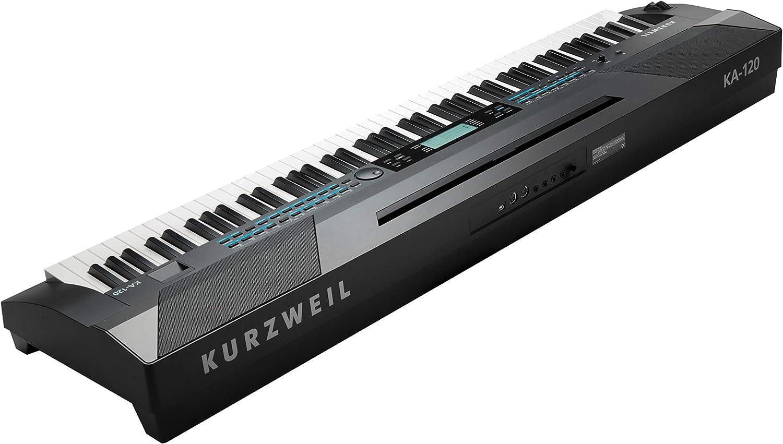 Kurzweil Teclado portátil KA120, 88 teclas (AMS-KA-120 ...