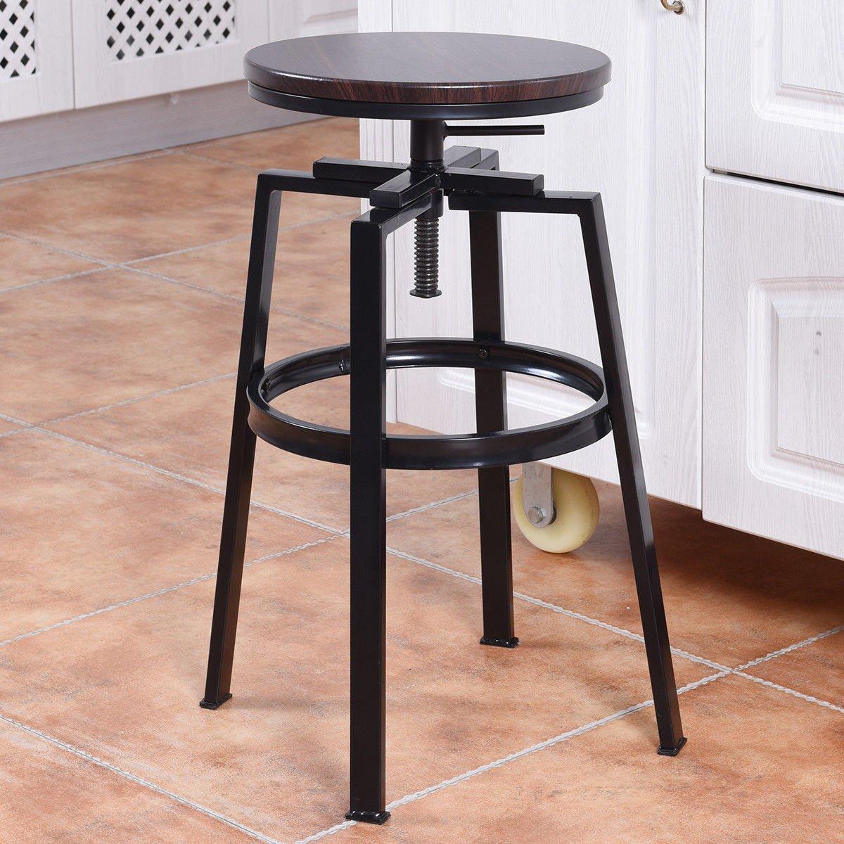 Awe Inspiring Amazon Com Wooden Black Iron Vintage Table Industrial Beatyapartments Chair Design Images Beatyapartmentscom
