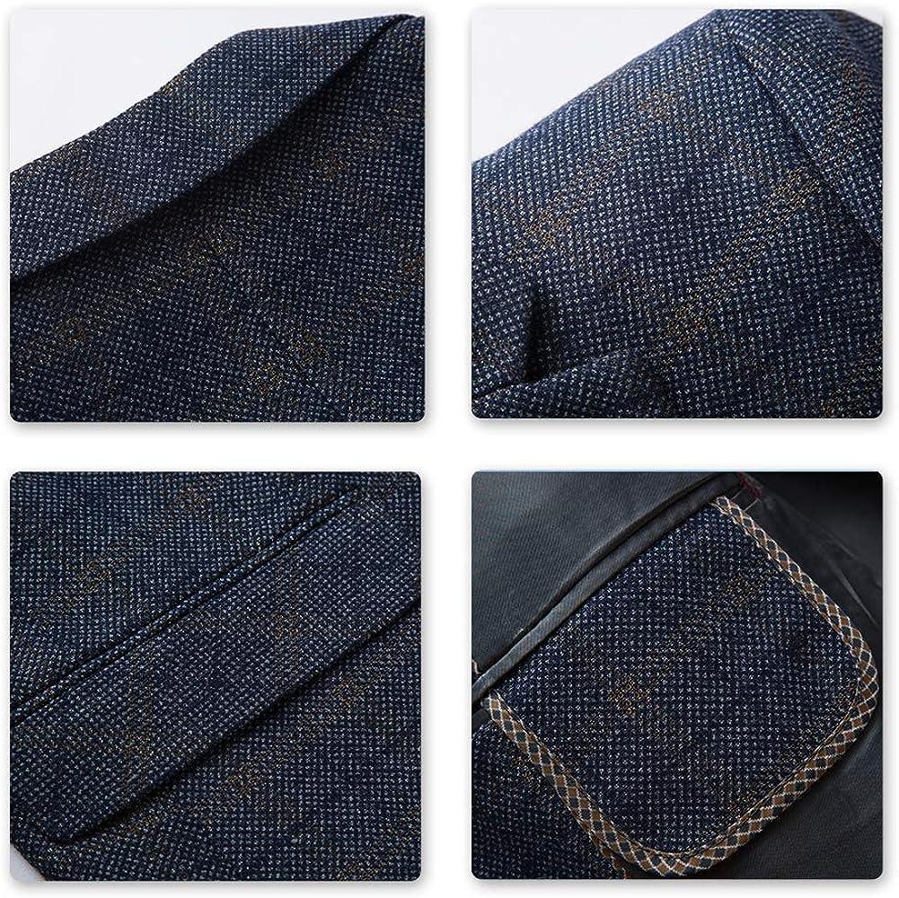 Mens Classic Check Texudo Buffalo Tartan Pintuck Sport Coat Notched Lapel Suit Jacket