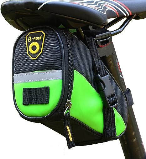 Mochila para sillines B-Soul, impermeable, ideal para bicicletas de montaña, verde: Amazon.es: Deportes y aire libre