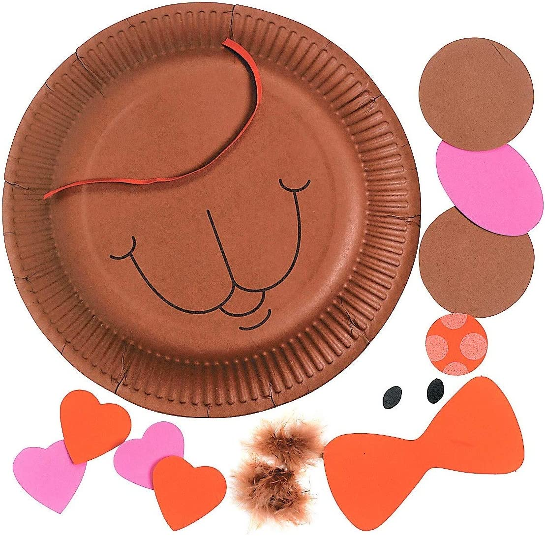 2 Two Love Bears All Things /& Paper Bear Plate Hanging Sign Kits Activities for Classroom Exchange Sunday School Homeschooling Supplies 9 Valentines Day Craft Kits for Kids