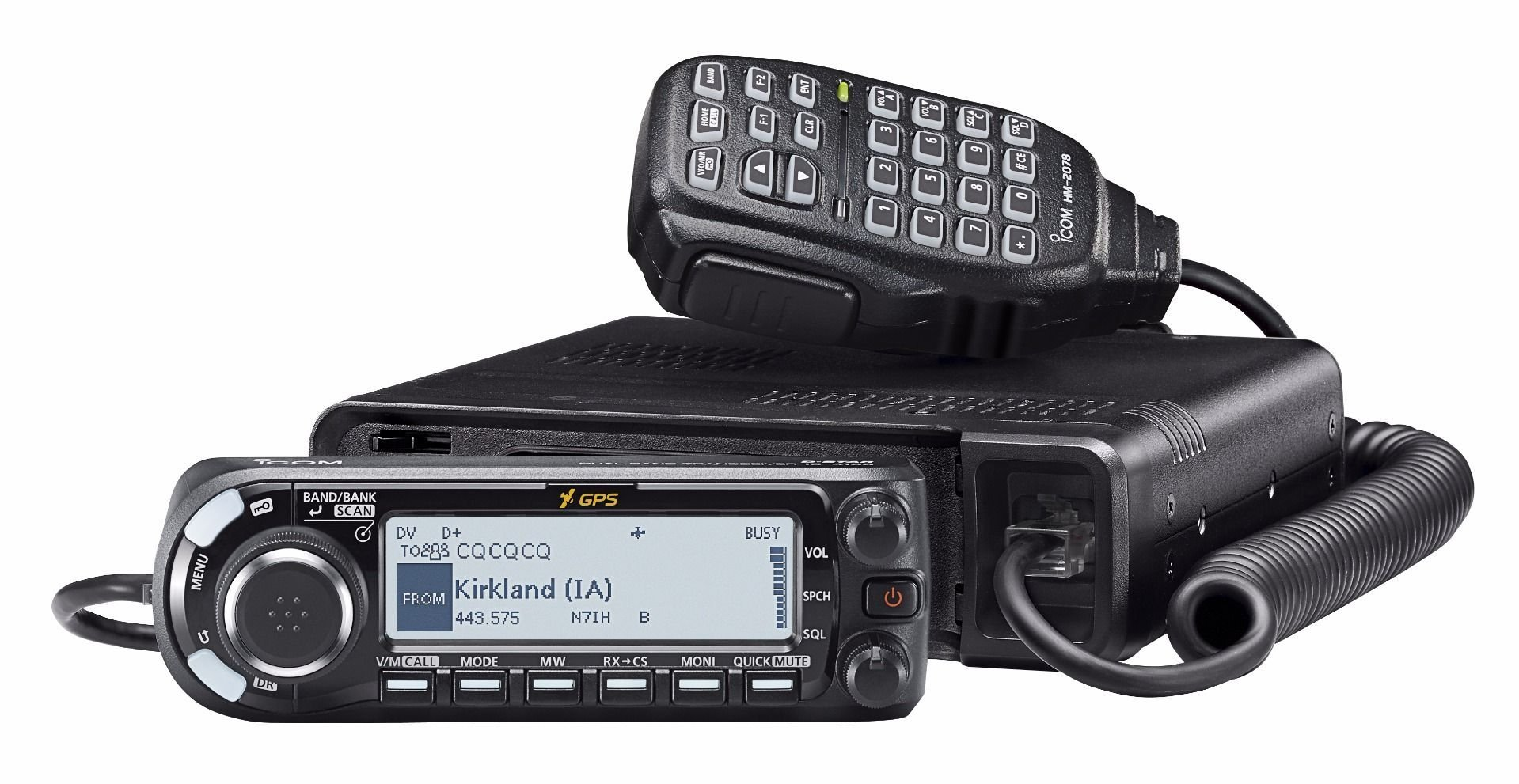 Icom ID-4100A Deluxe VHF/UHF Dual Band Transceiver w/ MBA-8 Controller Mounting Bracket
