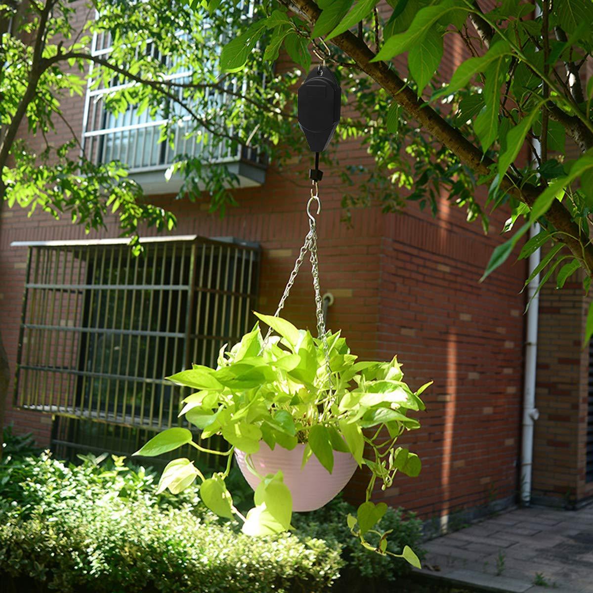 NATUCE R/églables Poulie pour Plantes,Lot de 2 R/étractable Plantes Poulie Suspension pour paniers de Jardin et Oiseaux Mangeoire /à Suspendre D/écoration Int/érieur ou ext/érieur