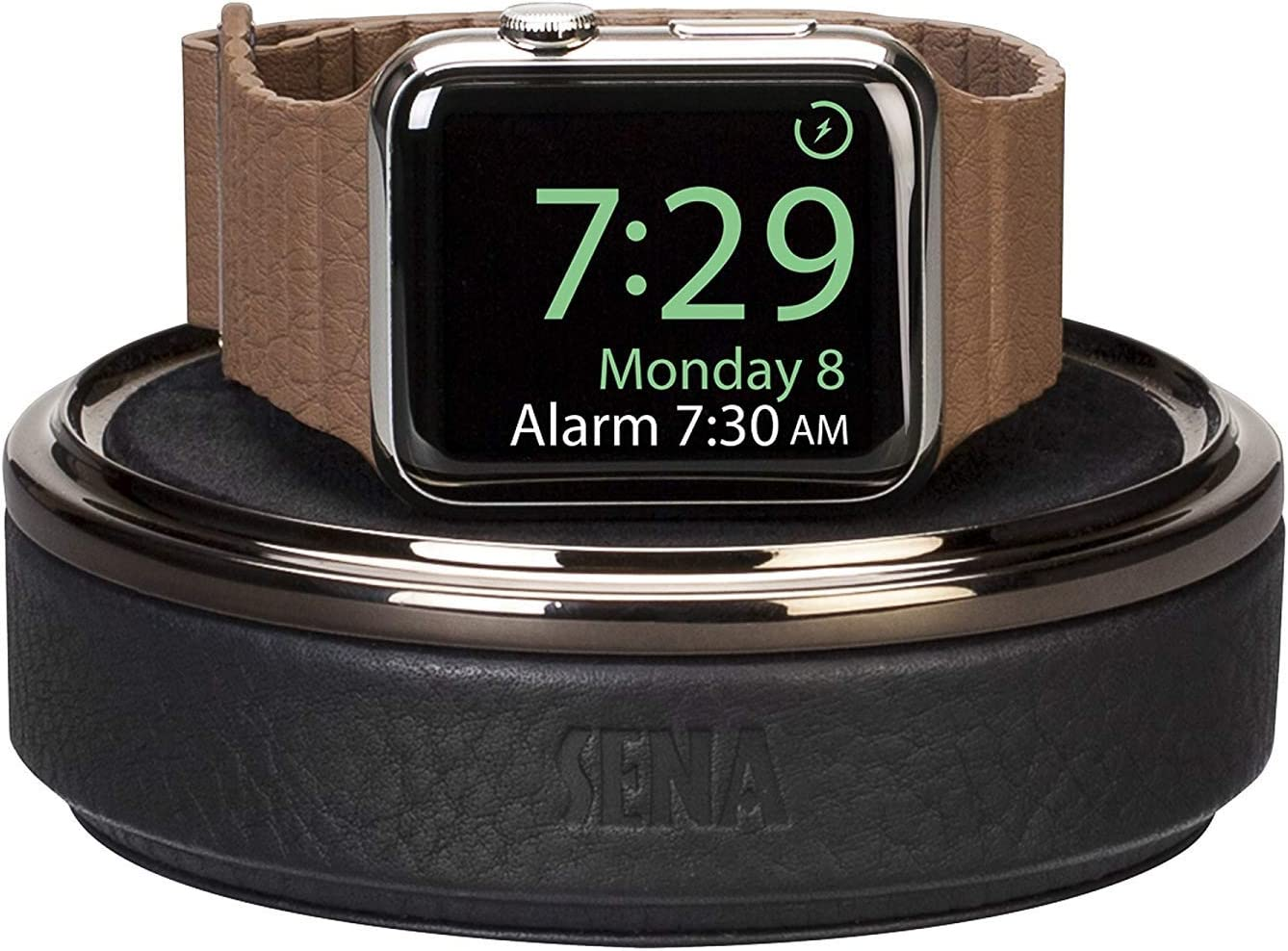 Sena, Leather Watch Case for Apple Watch (Black)