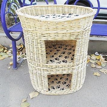 L&XY Cama De Gato De Mimbre Cat Gato Gato Torre Cat Cama Gato Apartamento Espacio Grande