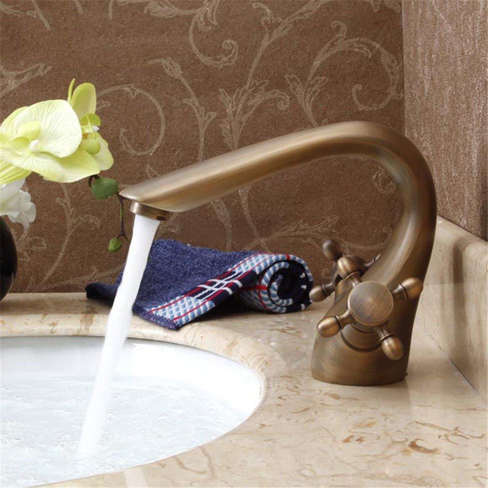 Gyps Faucet Waschtisch-Einhebelmischer Waschtischarmatur Badarmatur Crystal Single Messing Antik Heiße und Kalte Waschbecken Wasserhahn Bad Golden Waschbecken Wasserhahn C,Mischbatterie Waschbecken
