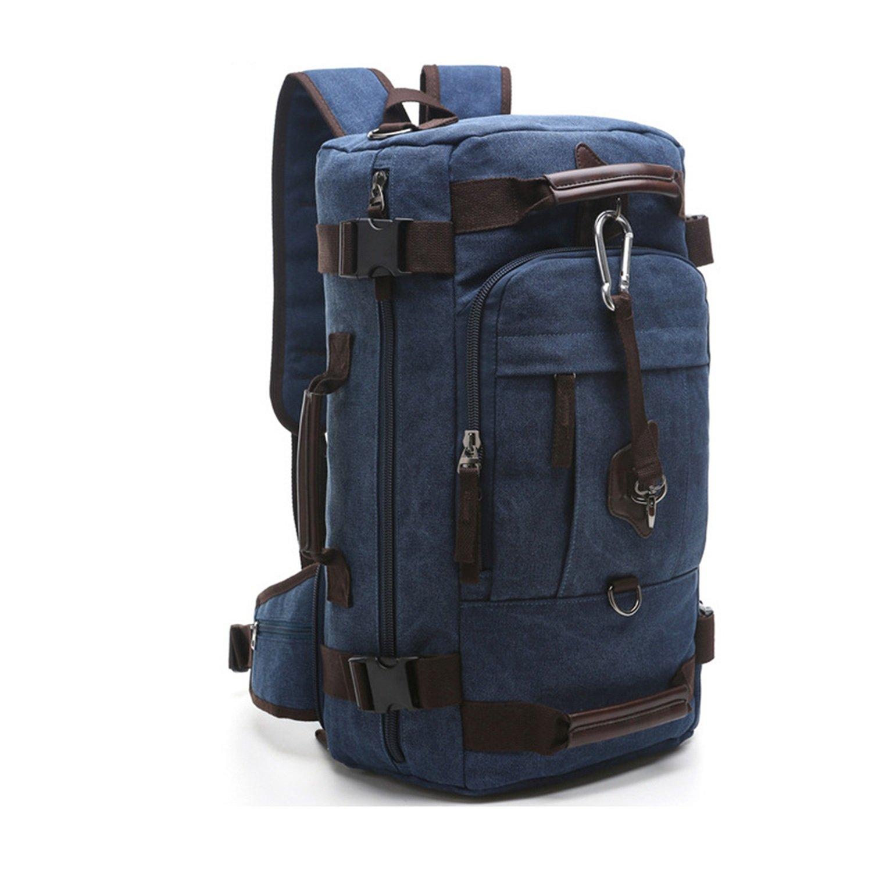 mataga grande capacidad Lienzo Mochila bolsa de viaje senderismo bolsa Camping bolsa mochila fa-49, hombre mujer, azul: Amazon.es: Deportes y aire libre