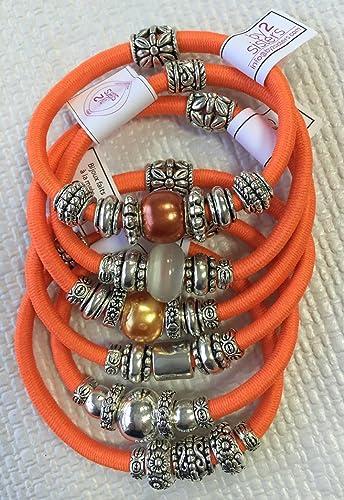 Pack pulseras-coleteros naranja: Amazon.es: Handmade