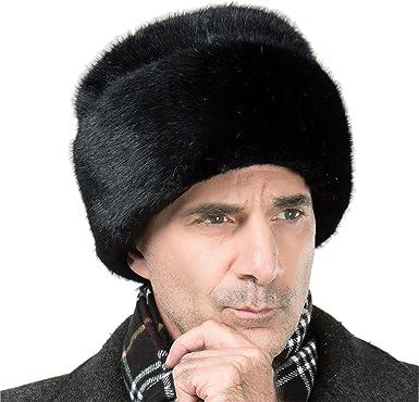 venta caliente barato buena venta disponibilidad en el reino unido onlineb2 C hombre gorro ruso Cossack de piel de visón ...