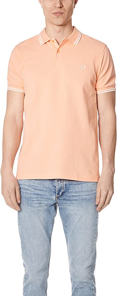 Fred Perry Twin Tipped Shirt Polo, Rosa (Nectar F75), Small ...