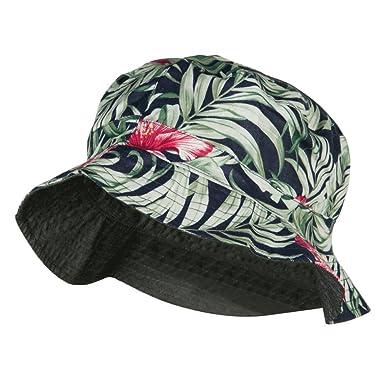 Jeanne Simmons Men s Reversible Hawaiian Bucket Hat - Black Denim OSFM 664471b51d1