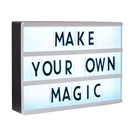 Home Treats Cinematic Light Box A4 Create Your Own Messages With
