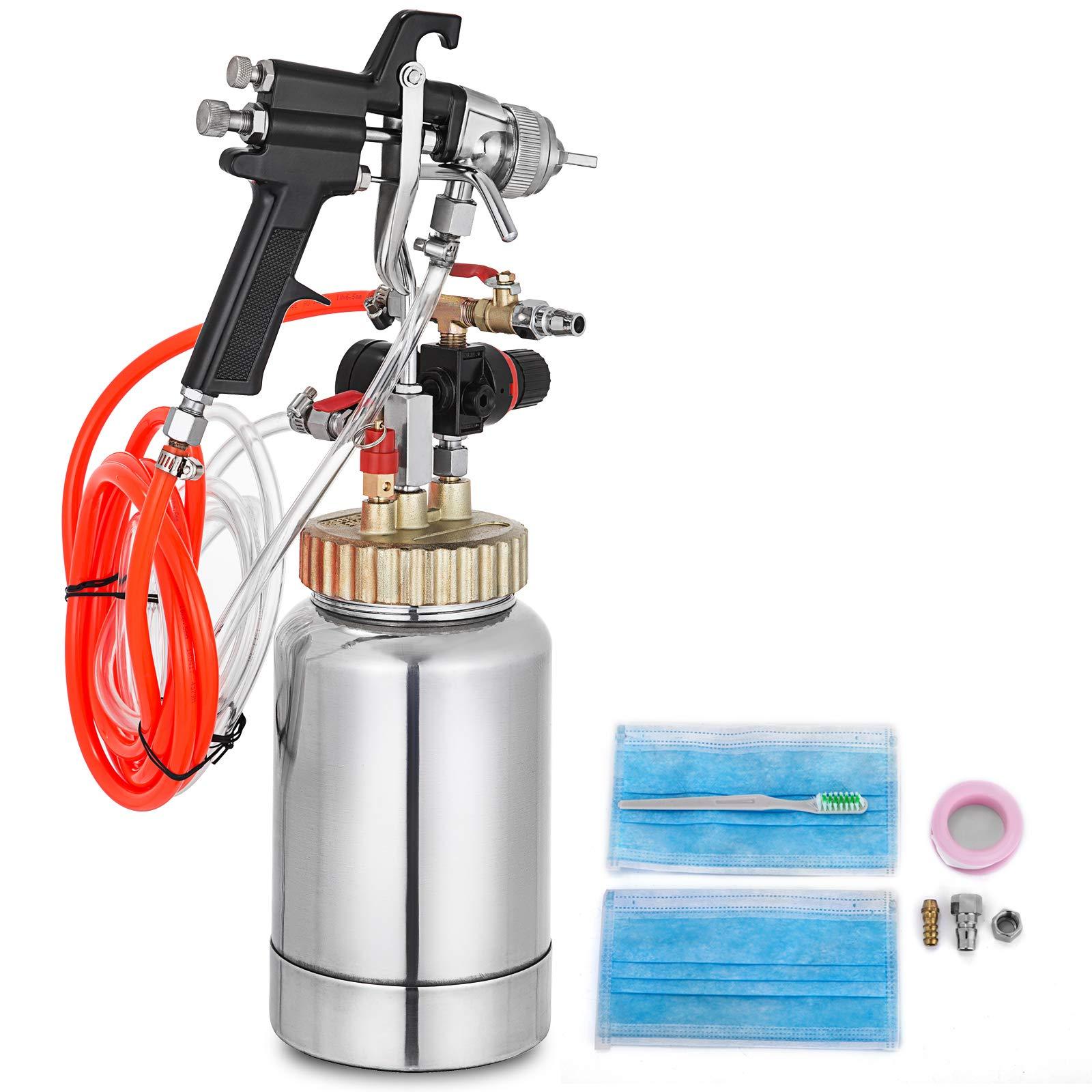 VEVOR Pressure Pot Tank 2L / 2 Quar Paint Pressure Pot 1.8mm Nozzle Paint Tank with Gun and Hose Paint and Body Spray Guns (2Qt 1.8mm)