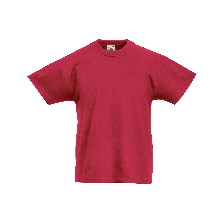 GIRASOLE fruit of the Loom Valueweight T-shirt Per Bambini Kids Manica Corta Età