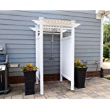 zippity outdoor products zp19024 oceanside vinyl shower kit enclosure 2 box unit 36