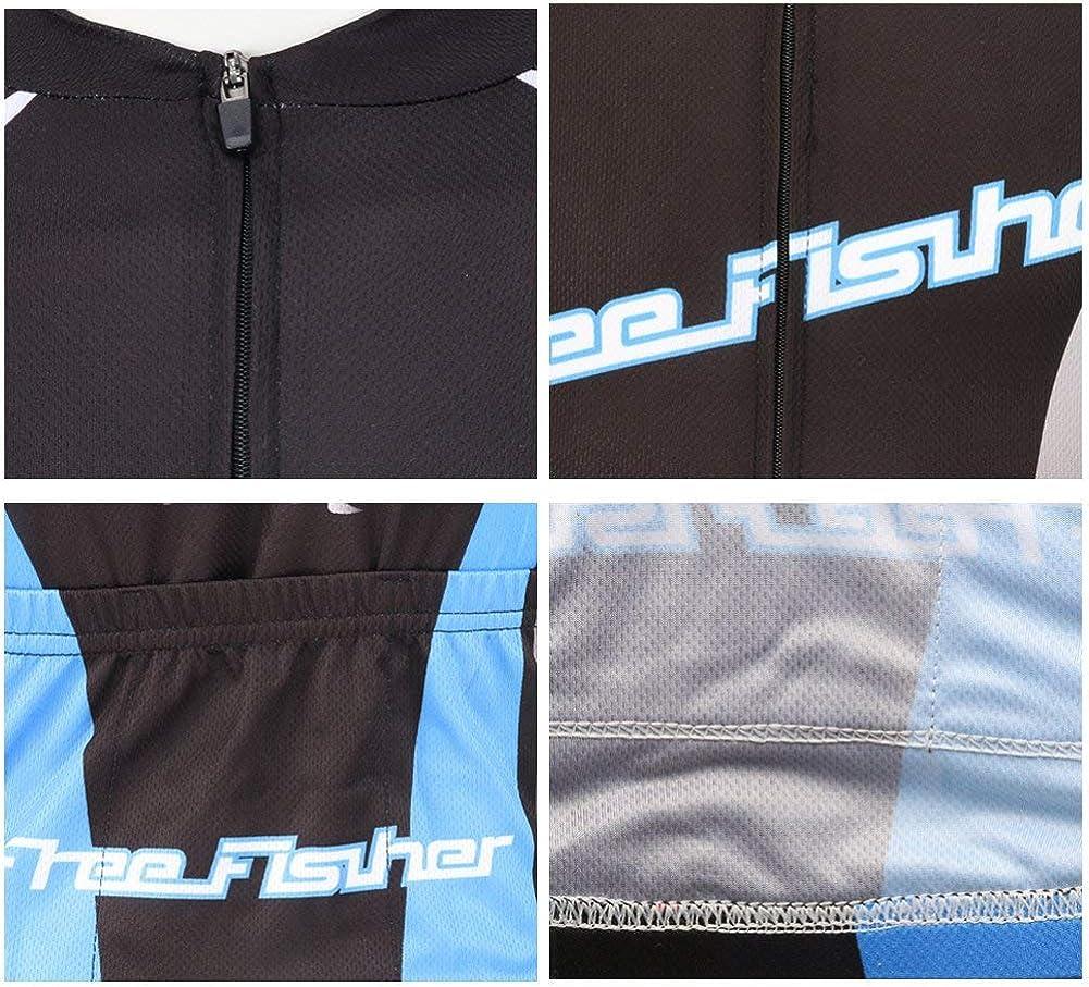 FREE FISHER Kids Boys Girls Short Sleeve Cartoon Cycling Jersey Set//Top//Short,Jersey Set Wheel,7-9 Years
