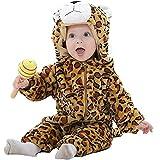 Queque Shine Jumpsuit Bebé Unisexo Bebé Recién Nacido Franela Mameluco Invierno Ropa Una Pieza Pijamas Animal Caricatura Trajes