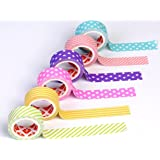 Paper Tape Colorful Adhesive Paper Tapes for Art & Craft and Other Decorative Purposes - Size: 15mm