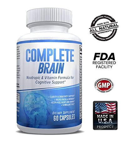 CompleteBrain: Powerful Nootropic and Brain Supplement - Improves Memory,  Mood, Focus, Clarity