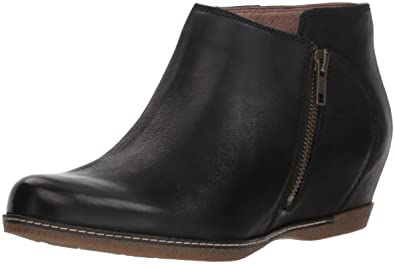 ac488b218798 Dansko Women s Leyla Ankle Boot Black Burnished Nubuck 36 M EU (5.5-6 US