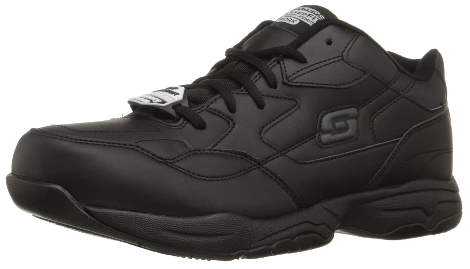 Amazon.com: Skechers For Work Menu0027s Felton Slip Resistant Relaxed Fit Work  Shoe: Shoes