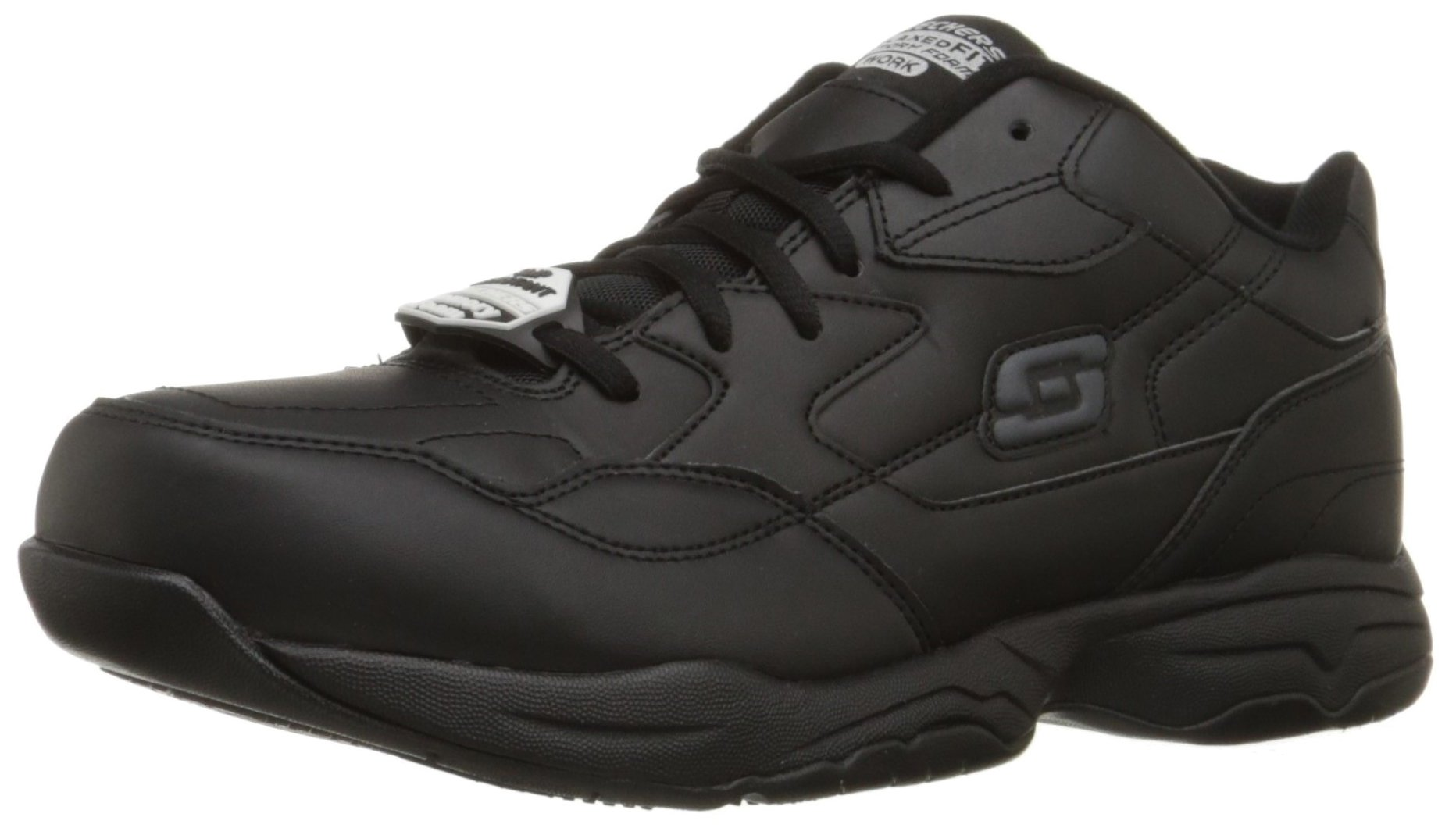 Skechers for Work Men's Felton Shoe, Black, 12 M US by Skechers