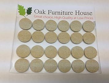 24 Oak Furniture Self Adhesive Felt Pads Wood Floor Protectors (20mm)