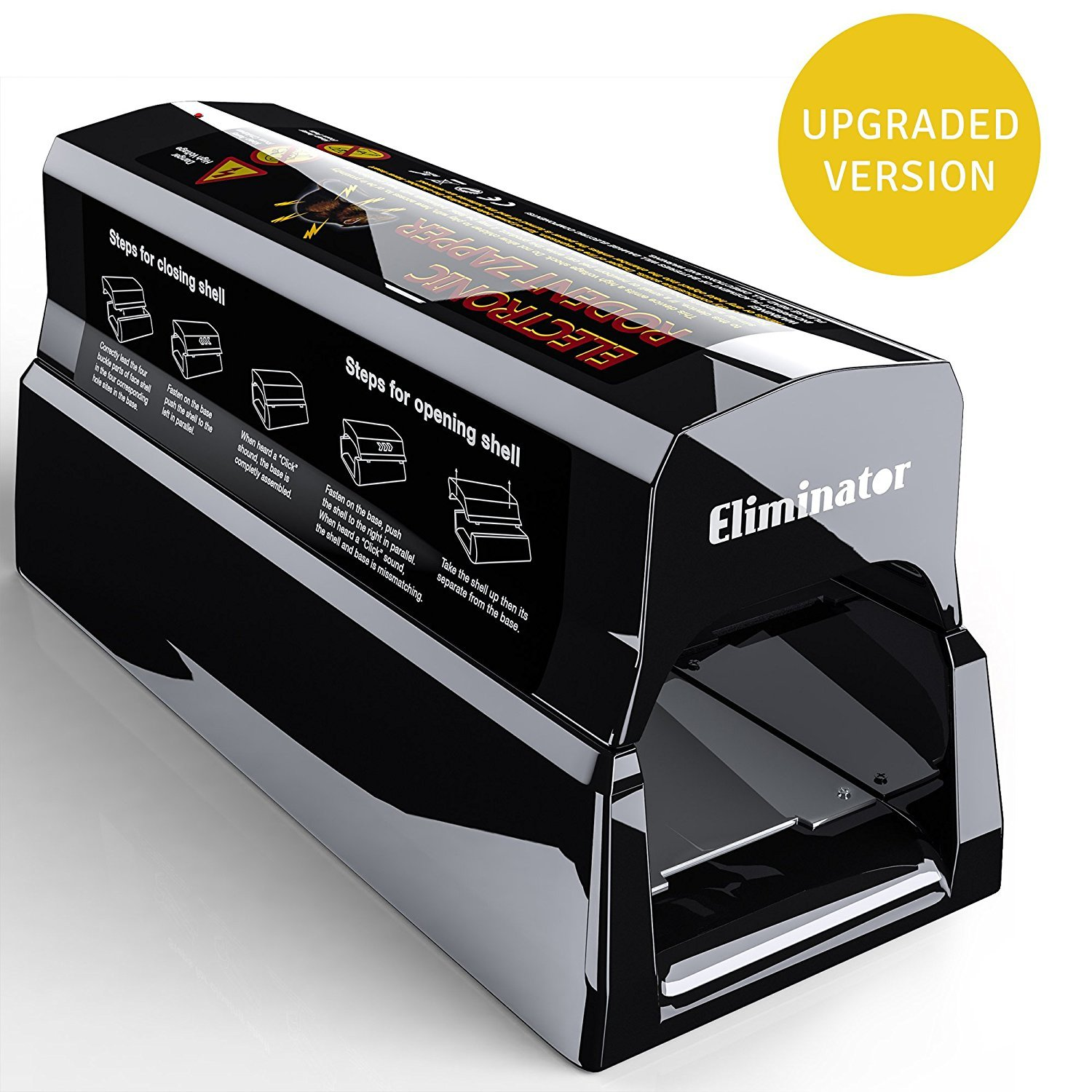 Eliminator Powerful Electronic Mouse Rodent Trap Killer -Eliminate Mice, Rats, Chipmunks and Squirrels Humanely, Efficiently and Safely Without Poison - Infestation Solution [Upgraded]