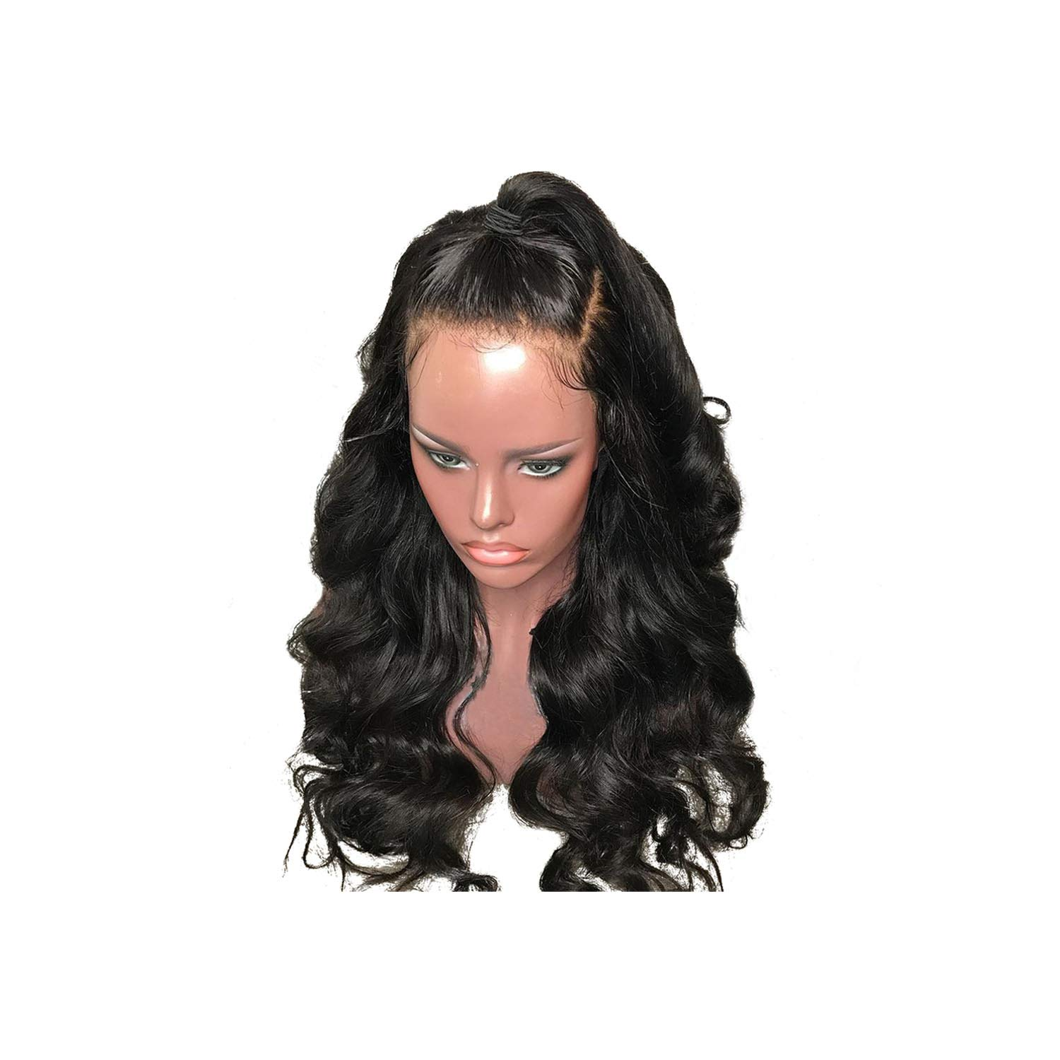 Sweetlove 180% Density 360 Lace Frontal Wig Pre Plucked With Baby Hair 10''-22'' Body Wave Natural Color Brazilian Remy Hair Wigs,Natural Color,16Inches,150 Density