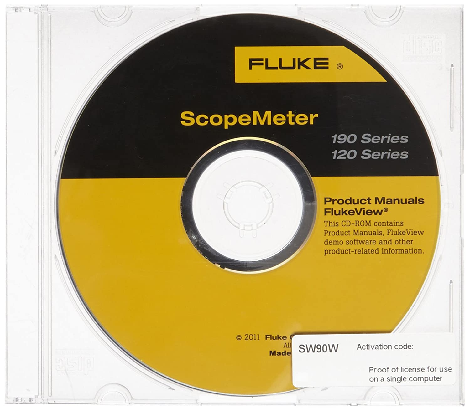 Fluke SW90W FlukeView ScopeMeter Software For 190 and 120 Series