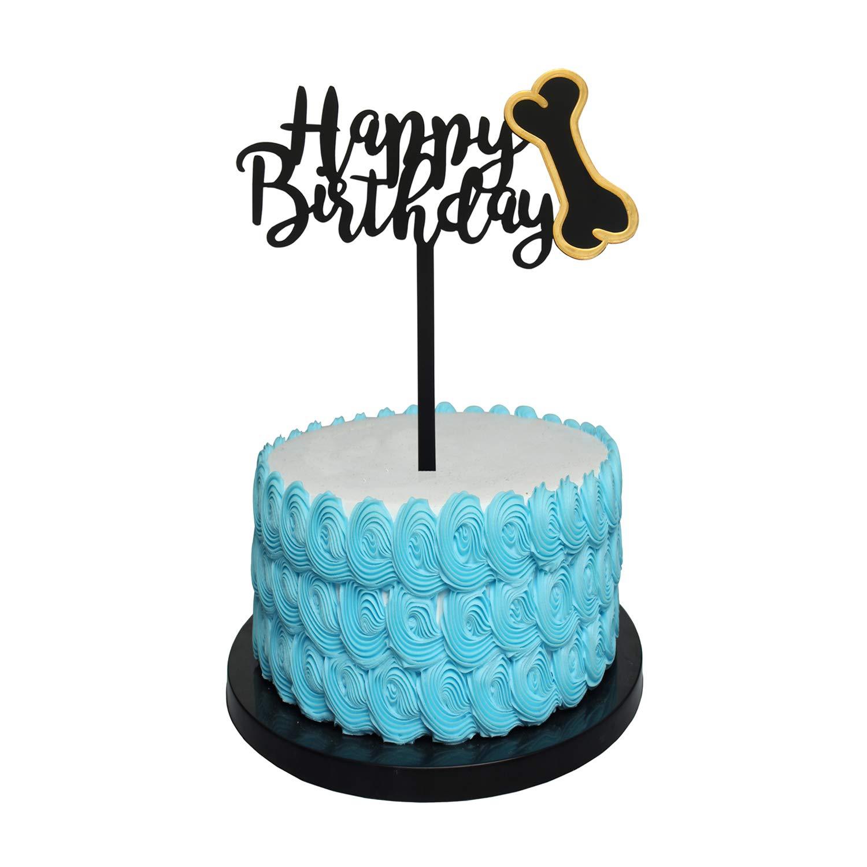 Peachy Diy Happy Birthday Cake Topper Acrylic Birthday Cake Dog Topper Funny Birthday Cards Online Unhofree Goldxyz