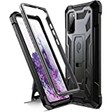 Poetic Spartan Series Designed for Samsung Galaxy S20 Case, Full-Body Rugged Dual-Layer Metallic Color Accent Premium Leather